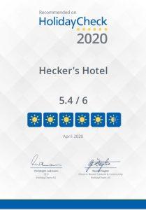 Auszeichnung HolidayCheck 2020
